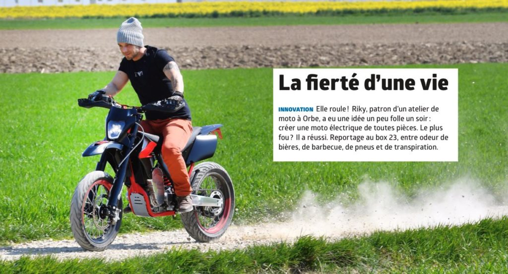 Moto électrique fabriquée en suisse - Riky & Co